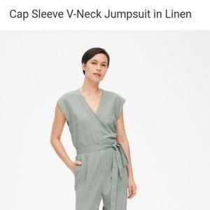 GAP Cap Sleeve Linen Jumpsuit NWT